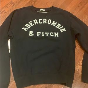 Sweater men Abercrombie & Fitch navy blue